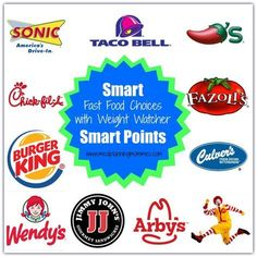 Smart Fast Food Choices with 10 Weight Watcher Smart Points or less- Meal Planning Mommies