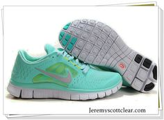 Tiffany Blue Nike Free Run 3 5.0 Pure Platinum Reflect Silver Aqua Chrome