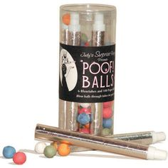 A European party game for adults and kids, blow paper balls through tubes at friends and loved ones for lots of good laughs and a memorable time. Our favorite on Christmas Eve!