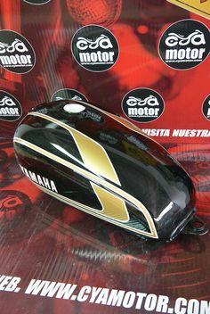 Yamaha Cafe Racer, Yamaha Mt, Xt 600 Scrambler, Yamaha Rx100, Pinstriping, Motorcycle, Bike, The Originals, Airbrush