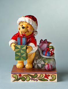 CYBER DEALS - Jim Shore Disney Traditions Santa Pooh With Present