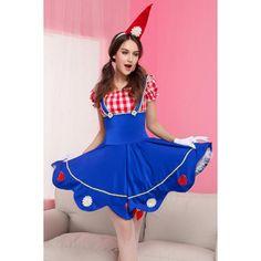 Blue Sexy Halloween Maid Costume ($28) ❤ liked on Polyvore featuring costumes, blue, sexy maid halloween costume, chambermaid costume, maid halloween costume, blue halloween costume and maid costume