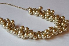 Pearl Necklace $50.00 @impactjewelry #promofrenzyteam #pearls #jewelry #champagne #cluster