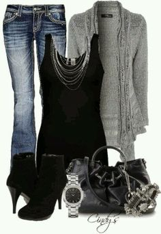Jeans and High Heels | ... black blouse, jeans, black high heels and handbag Fun and Fashion Blog