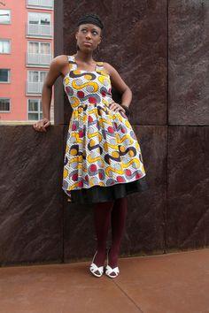African multi print strap dress BY GITAS PORTAL by Gitasportal ~Latest African Fashion, African Prints, African fashion styles, African clothing, Nigerian style, Ghanaian fashion, African women dresses, African Bags, African shoes, Kitenge, Gele, Nigerian fashion, Ankara, Aso okè, Kenté, brocade. DK