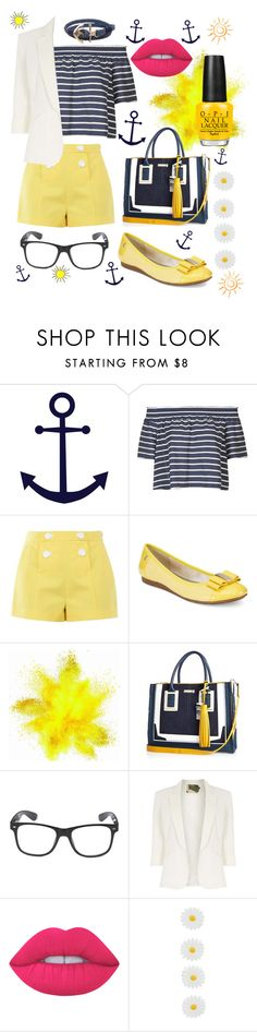 """""""sunny days"""" by jade-stryker ❤ liked on Polyvore featuring Topshop, Boutique Moschino, Anne Klein, River Island, Jolie Moi, Lime Crime, Monsoon and Humble Chic"""