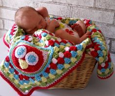 Adorable Custom Owl Baby Blanket by All Things Granny