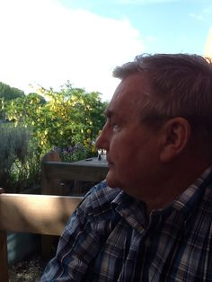 Reflective husband of 44 years ... River Cafe, Glasbury by the Wye