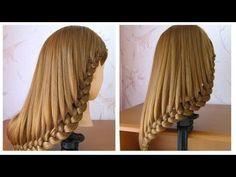 Coiffure simple cheveux mi long / long ♡ Tuto coiffure avec tresse ♡ facile à faire - YouTube
