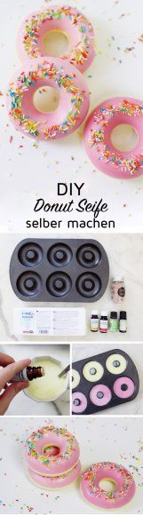 Donut Seife selber machen: Super originelles DIY Geschenk You are in the right place about diy beauty baking soda Here we offer you the most beautiful pictures about the diy beauty vegan you are looki Donut Form, Donut Shape, Diy Donut, Diy Beauté, Homemade Cosmetics, Idee Diy, Beauty Recipe, Hacks Diy, Cool Diy