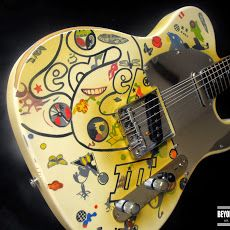 Famous Replica and Relic Painting and Finishing. Guitars in the style of Zakk Wylde, Joe Satriani, Eric Clapton, Jimmy Page, Warren DeMartini and More. Fender Telecaster, Fender Guitars, Guitar Art, Cool Guitar, Led Zeppelin Discography, Warren Demartini, Led Zeppelin Iii, Zakk Wylde