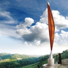 MONUMENTO AL MANDORLO - ACCIAO E LEGNO - 18 M - CASTIGLIONE FALLETTO -design mauro rosso