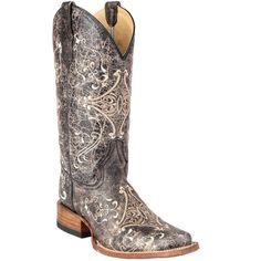 Circle G By Corral Ladies Brown Crackle/Bone Embroidery Boot L5078 New #CircleG #CowboyWestern