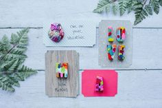 DIY Projects / Crayon Valentines in Fun Shapes | The Little Umbrella