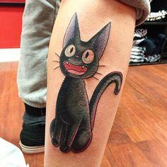 20 studio ghibli tattoos straight from miyazaki films Tatuaje Studio Ghibli, Studio Ghibli Tattoo, Tattoo Studio, Miyazaki Tattoo, Totoro, Kiki Delivery, Kiki's Delivery Service, Hayao Miyazaki, Tattoo Ideas