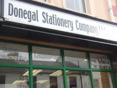Donegal Stationery Company Stationery Companies, Donegal, Main Street, Broadway Shows, Black And White, Black White, Blanco Y Negro, Broadway Plays, Black N White