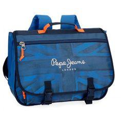 824dfe791e Le cartable 3 compartiments Pepe Jeans Fabio est un modèle de la marque  destiné aux garçons