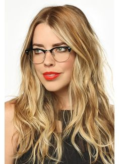ba63904b4f15f Clear Clubmaster Glasses   Gresham Unisex Metal Clear Half-Frame Glasses