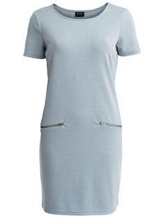 SHORT SLEEVED DRESS, Blue Fog