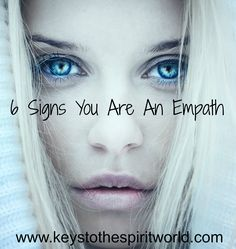 "Do you feel overwhelmed when going to a mall, a sporting event, or Wal-Mart? Somewhere where there might be a lot of people? You want to go, but when you get there you feel anxious, unsettled, or ""very off"" but you don't know why? You might be an Empath... http://www.keystothespiritworld.com/2013/04/6-signs-you-are-empath.html"
