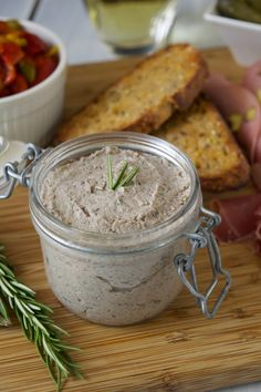 Mushroom pâté with garlic and rosemary.
