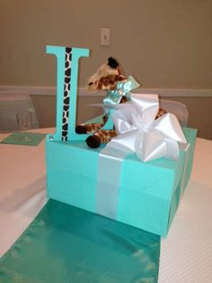 TIFFANY & CO/giraffe Baby Shower Party Ideas | Photo 13 of 37 | Catch My Party