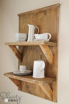 Hey guys! I am sooo excited to show you what I was busy with over the weekend! I built this large shelf to display some cute dishes in my kitchen! I'm so in love with it, and not just because it was EASY This is a great project to raid your scrap pile for! I {...Read More...}