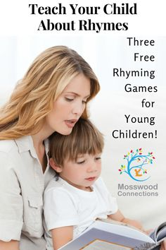 Three Reading Rhyming Games - Mosswood Connections Free Games For Kids, Learning Games For Kids, Educational Activities For Kids, Parenting Done Right, Parenting Fail, Parenting Toddlers, Rhyming Games, Card Games