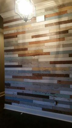 Feature wall. Reclaimed wood tile