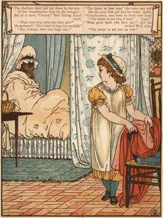 kidpix: Красная Шапочка -старинные иллюстрации Walter Crane