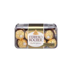 Candy Gift Box, Candy Gifts, Ferrero Rocher Chocolates, Italian Bakery, Chocolate Packaging, Chocolate Hazelnut, Grey Fabric, Eat, Products