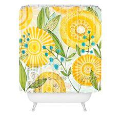 Cori Dantini Sun Burst Flowers Shower Curtain | DENY Designs Home Accessories