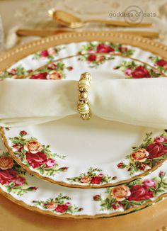 Old Country Roses Place Setting