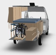 Image result for high top camper van with bike storage