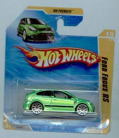 Hot Wheels 2010-019/214 HW Premiere 19/52 GREEN Ford Focus RS SHORT CARD 1:64 Scale by Mattel. $14.99
