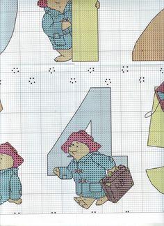 ru / Фото - The world of cross stitching 146 - tymannost Cross Stitch Numbers, Cross Stitch Charts, Cross Stitch Patterns, Ours Paddington, Teddy Bear Puppies, Teddy Bears, Animal Crackers, Tatty Teddy, Kid Character
