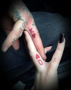 We don't play cards but this is really cute. tattoos for couples. King and Queen