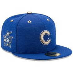 ec47faa7270ef9 Men's Chicago Cubs New Era Heathered Royal 2017 MLB All-Star Game Side  Patch 59FIFTY Fitted Hat