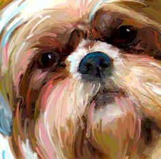 Shih-Tzu Art Portraits | Art Dog Blog