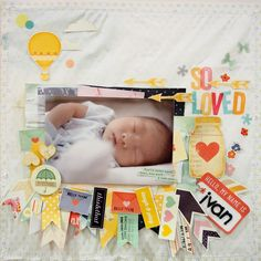 She has amazing lay outs, that I can use as inspiration for Julia's first year!!!   Happiness is Scrappy