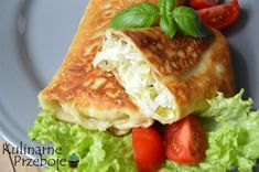 Naleśniki z porem Hamburger, Favorite Recipes, Chicken, Ethnic Recipes, Food, Chef Recipes, Cooking, Essen, Burgers