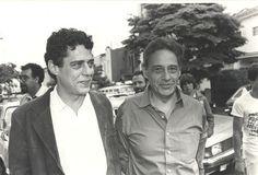 Chico e Fernando Henrique Cardoso em 1985.