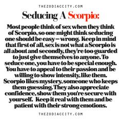 Zodiac Files: How To Seduce A Scorpio.