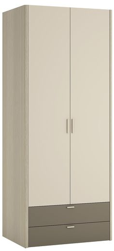 Holiday 2 Door 2 Drawer Fitted Wardrobe In Oak / Plover / Cream Melamine - Every conceivable option of storage is covered in this collection, along with a comprehensive range of tables and other occasional furniture to meet every need and ensure that you achieve the all important coordinated look through out the room