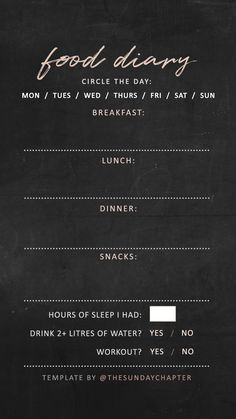 Food diary Instagram story template