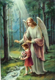 ANGEL DE LA GUARDA mi dulce compañia siempre estas conmigo en la noche y en el día