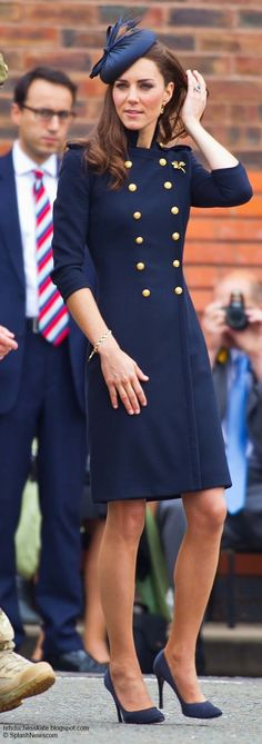 Catherine Duchess of Cambridge, aka Kate Middleton, in a bespoke Alexander McQueen coat dress, hat by Rachel Trevor-Morgan, and Prada shoes. 06/25/11
