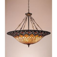 Tiffany 6-light Vintage Bronze Pendant | Overstock.com Shopping - Great Deals on Quoizel Tiffany Style