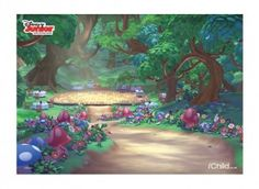 Use the Goldie & Bear finger puppets with this Fairy Tale Forest backdrop image, to create a puppet theatre.