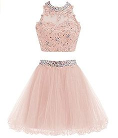Two Piece Prom Dress, Tulle Short Homecoming Dress, Appliques Prom Gowns from fashionlove Product Description Service email: bellawa. Dama Dresses, Quince Dresses, Hoco Dresses, Tulle Prom Dress, Homecoming Dresses, Prom Gowns, Short Pink Prom Dresses, Chiffon Dress, Quinceanera Dresses Short